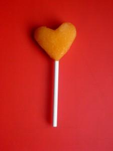 Heart melon pop