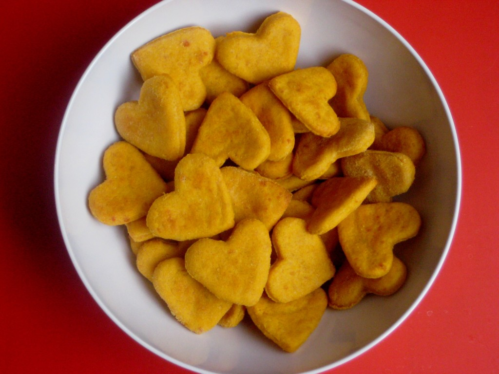 sweet potato cheddar crackers - Valentine Snacks For School
