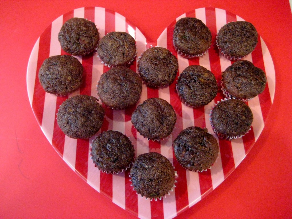 Chocolate zucchini mini cupcakes
