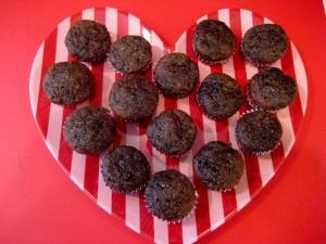 Chocolate Zucchini Mini Cupcakes