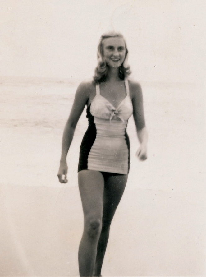 My sweet mom rockin' a swimsuit in healthier days