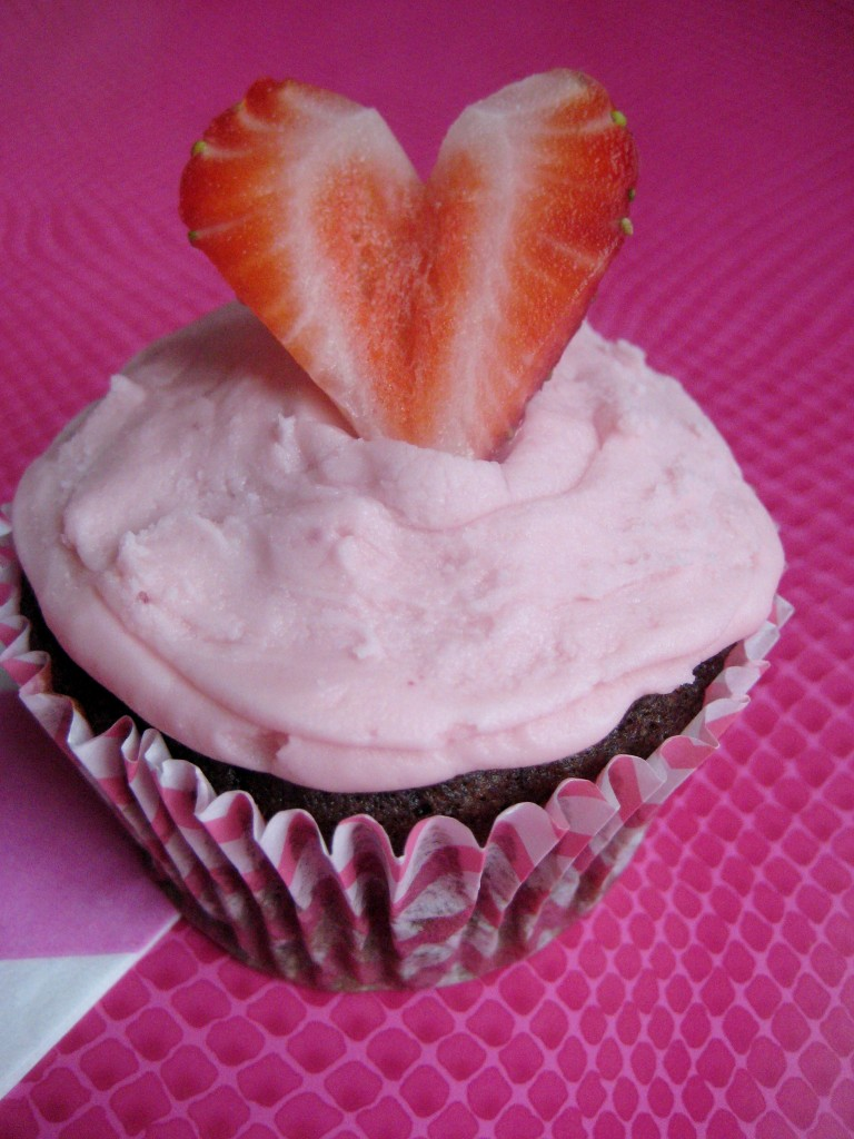Natural pink frosting
