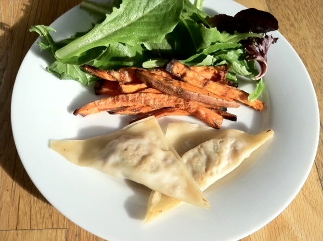 Seriously Yummy Chicken & Veggie Potstickers (Kids Cook Monday)