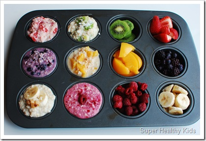 Rainbow Oatmeal Bar. Image from Super Healthy Kids