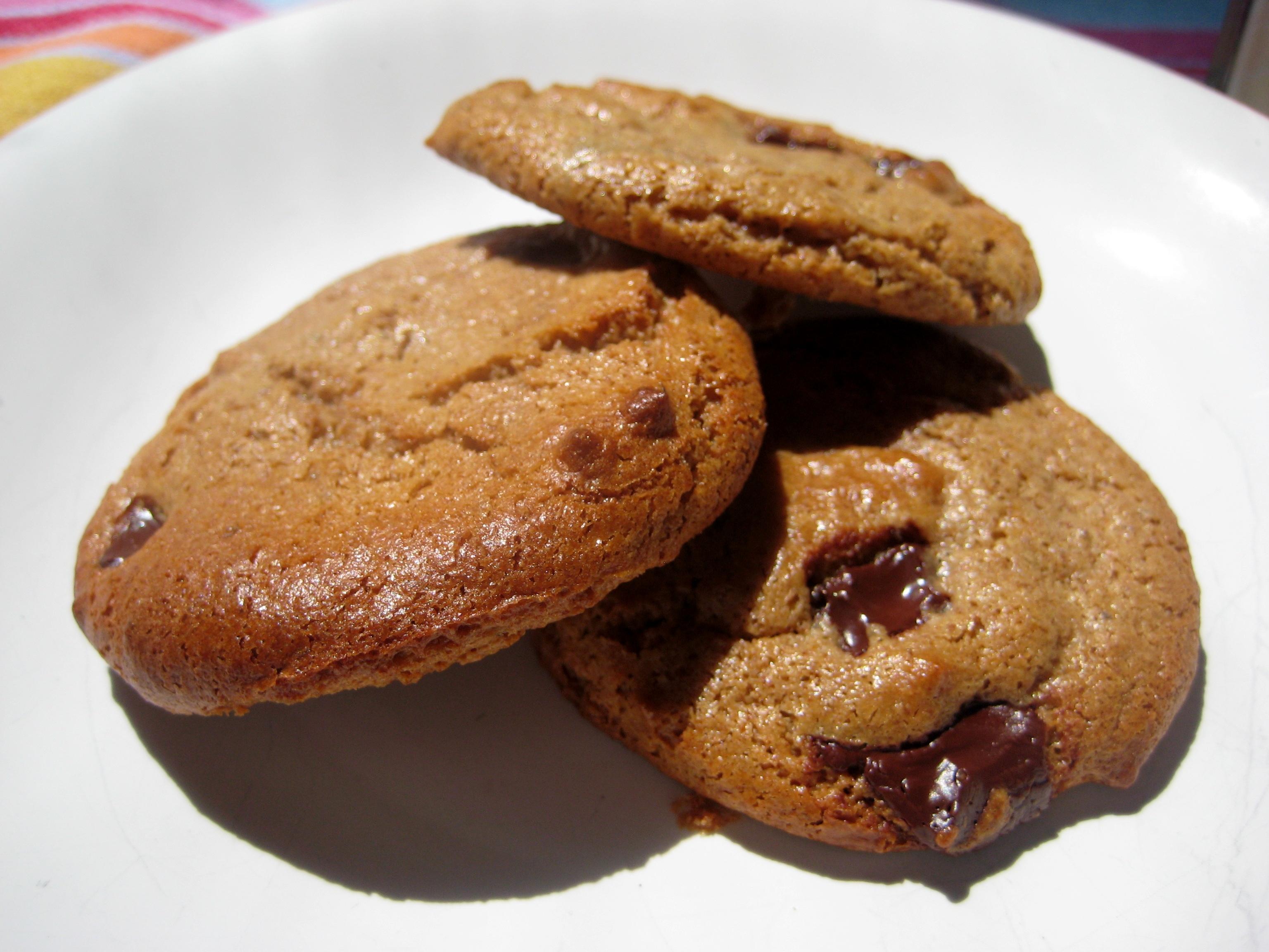 Dangerously Good Almond Butter Dark Chocolate Chip Cookie Recipe (Kids ...
