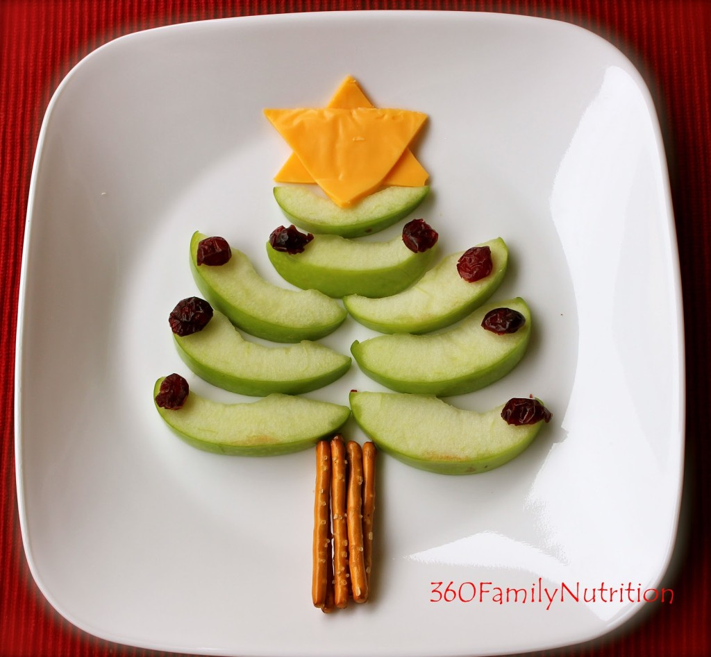 apple-Christmas-tree-snack