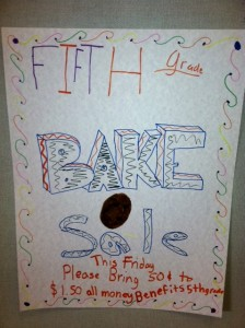 This bake sale is one of three junk food fundraisers held in a single month at one elementary school.