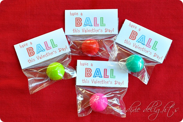 photo relating to Have a Ball This Summer Printable referred to as 12 Perfect Do-it-yourself Sweet-Absolutely free Valentines - Higher education Bites