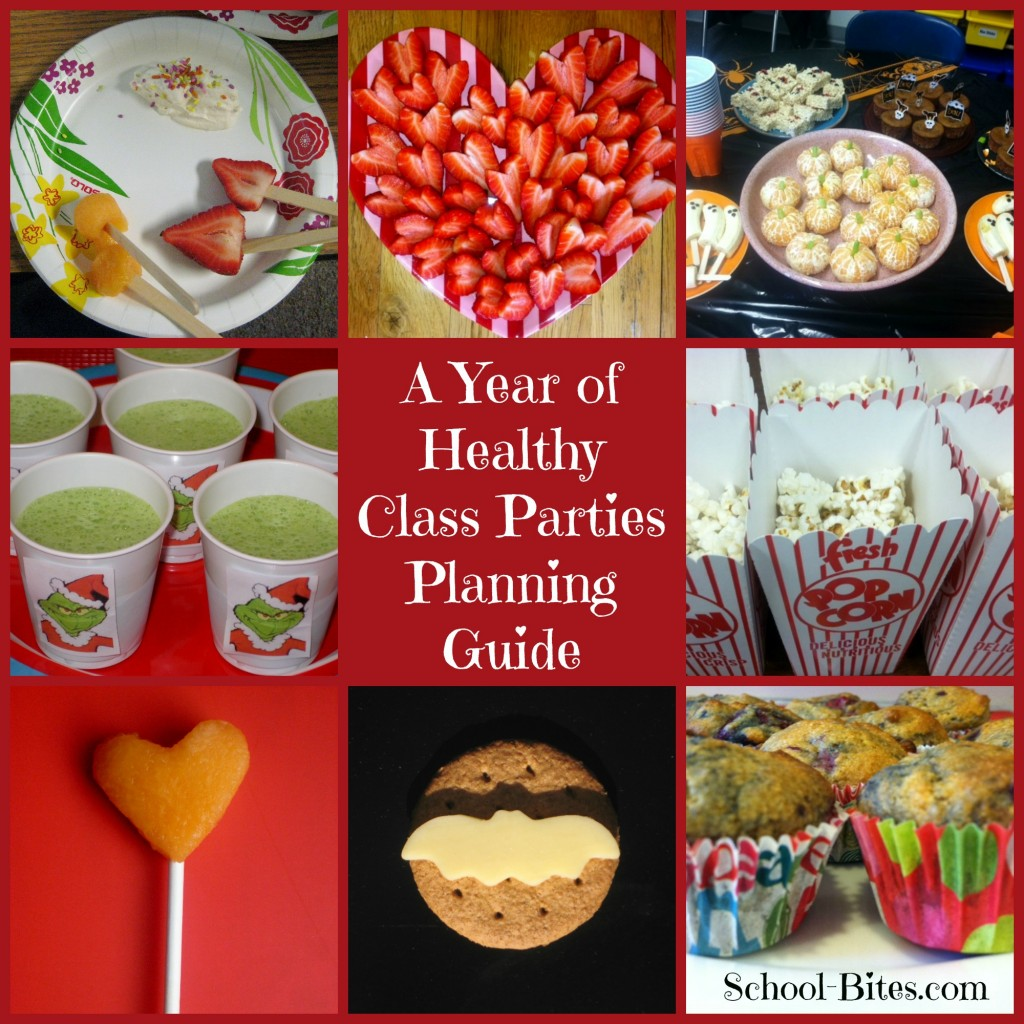 Classroom Event Ideas ~ A year of healthy class parties planning guide for