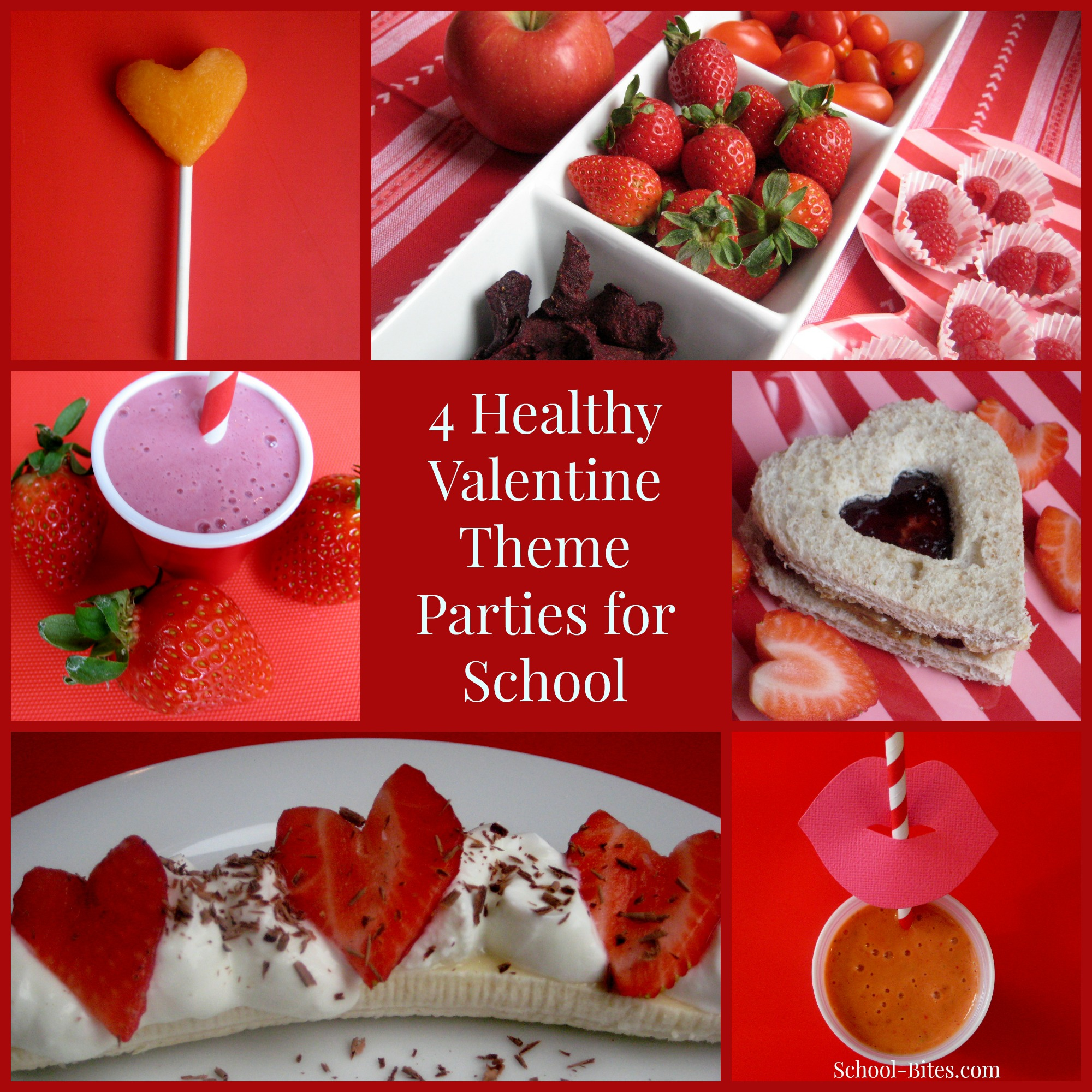 valentinesdaythemeparties2 valentines - Valentine Snacks For School